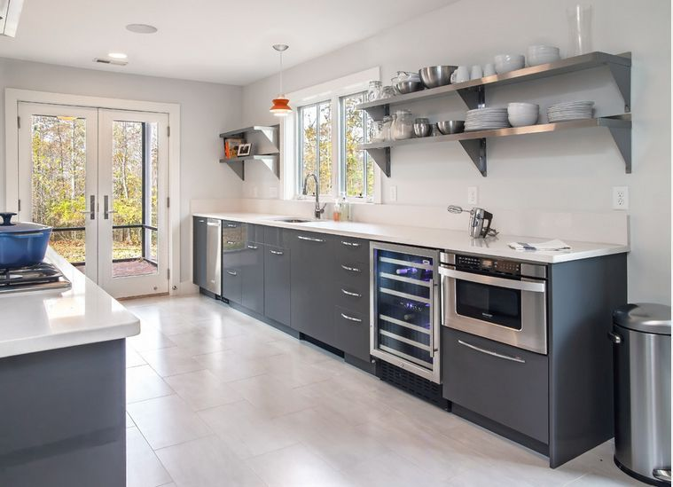 How To Mix And Match Stainless Steel Kitchen Shelves With Your