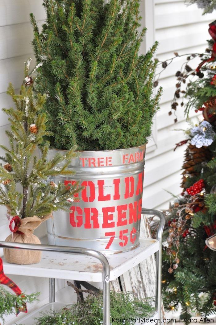 Rustic Plaid Farm House Cabin Christmas