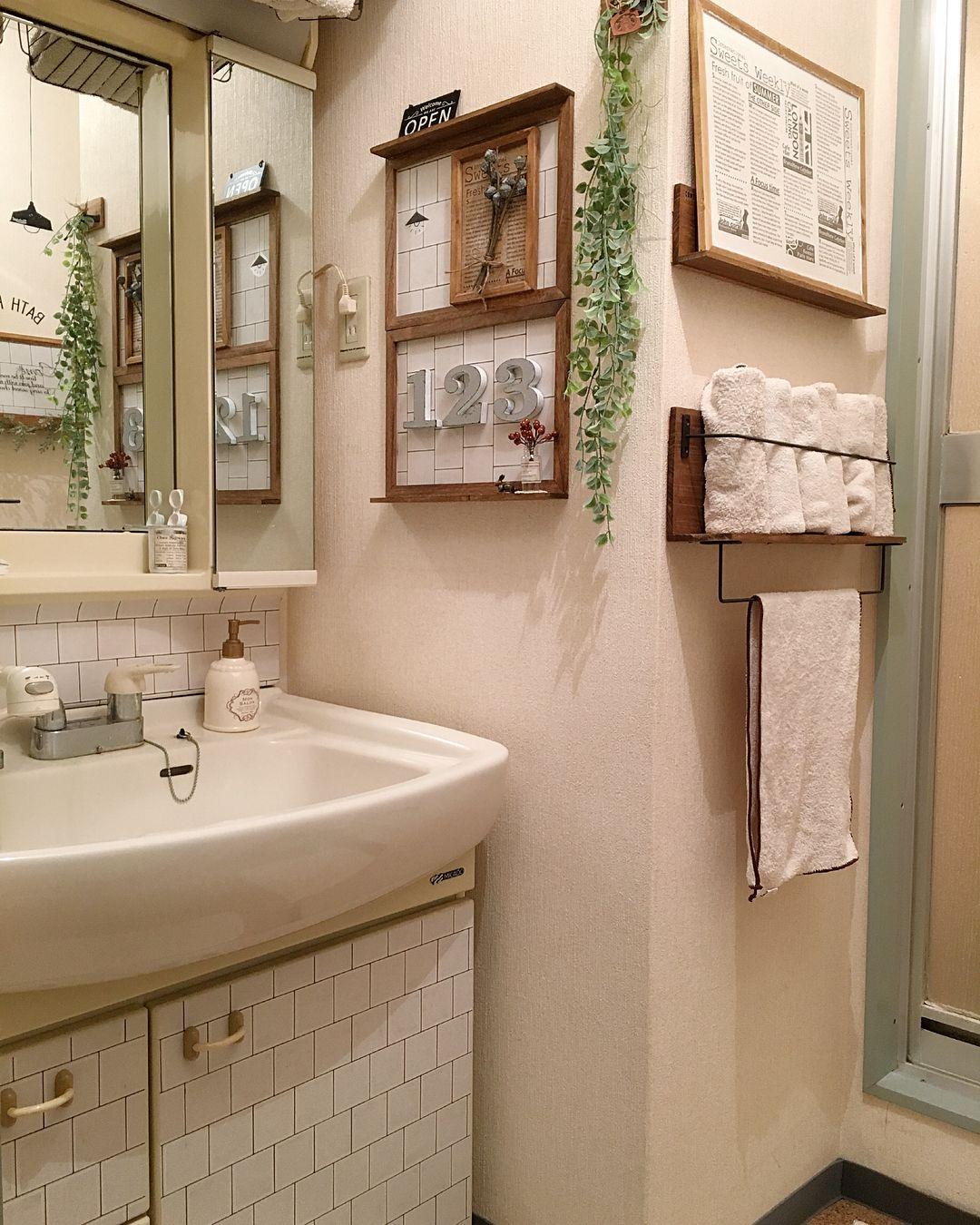 洗面所も素敵に見せたい!スタイル別に見るおしゃれな「洗面所インテリア」 | folk