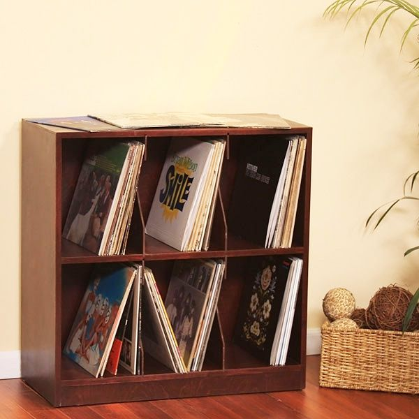 gothic cabinet craft lp record rack 2 shelf with base http
