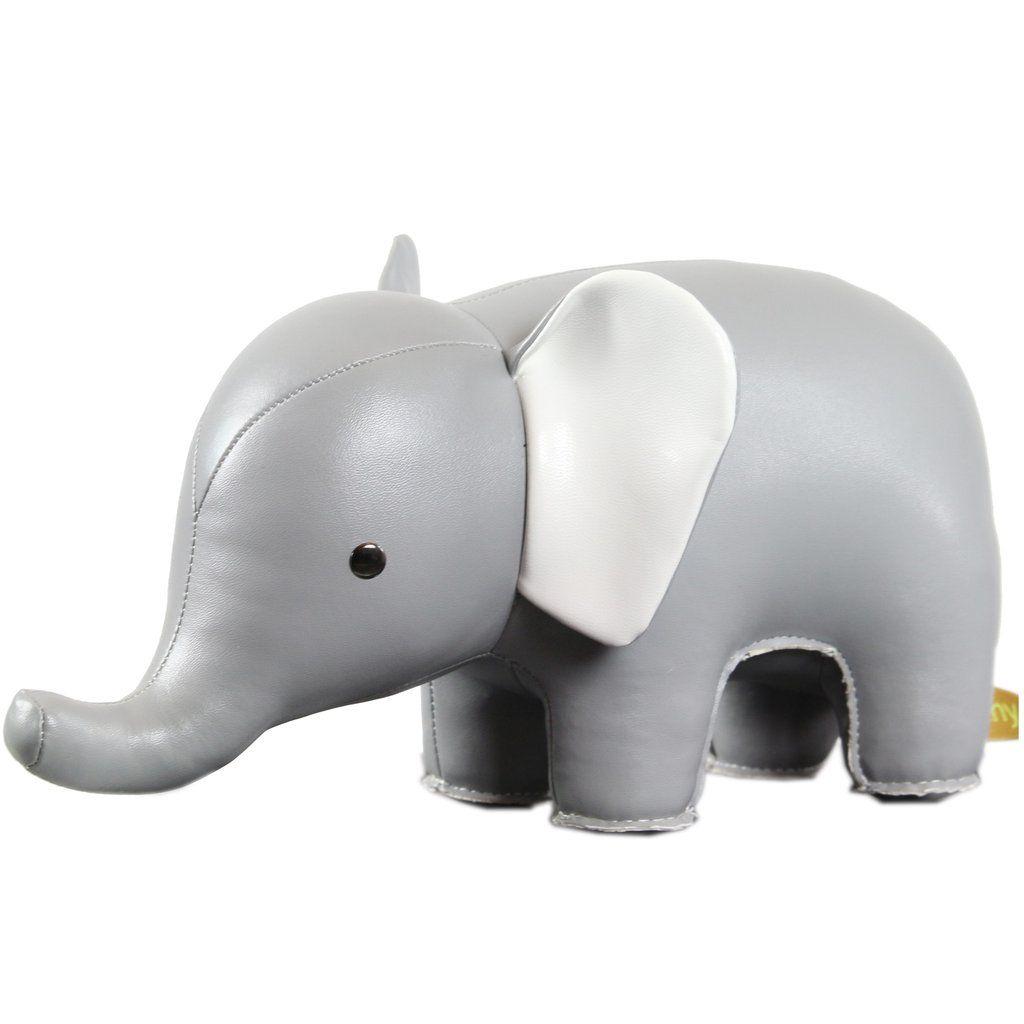Buchstütze Elefant grau-weiss | Kids Room | Pinterest