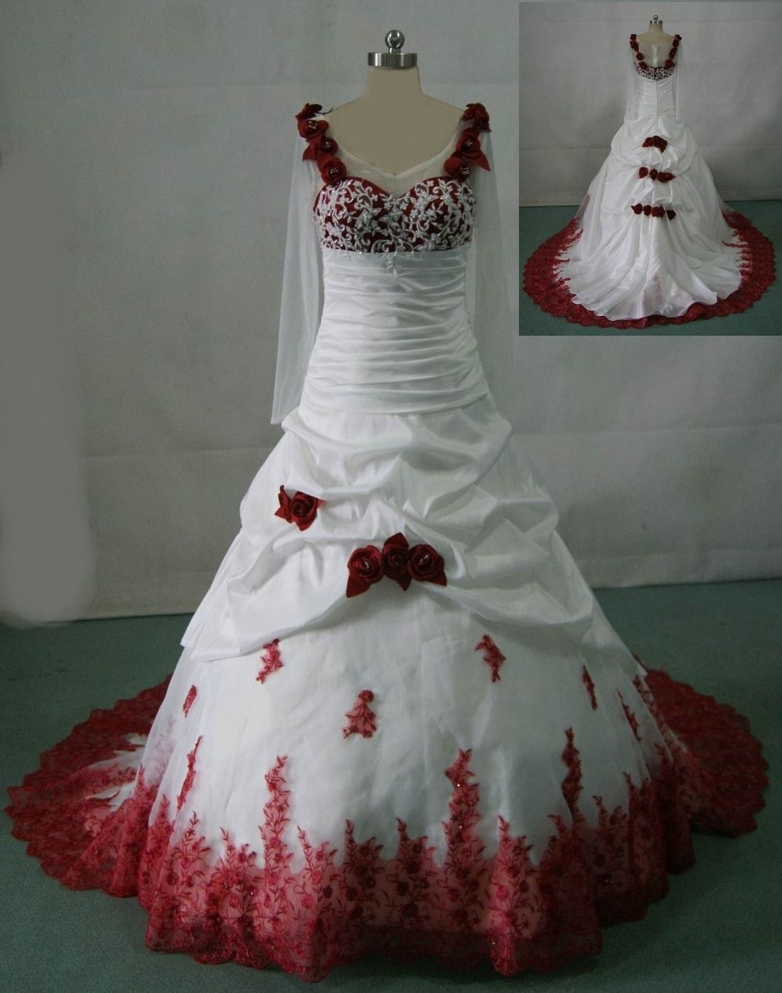 Wedding Dresses With Red Accents Red Wedding Dresses Wedding Dresses Wedding Gowns [ 1405 x 1106 Pixel ]