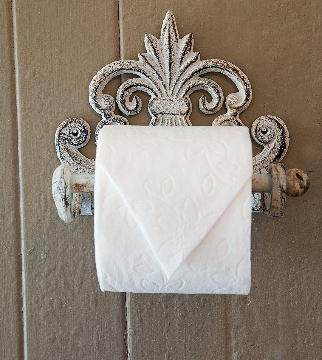Amazoncom Fleur De Lis Cast Iron Toilet Paper Roll Holder Cast