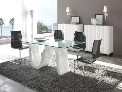 Tendecia: mesas de vidrio minimalistas para el comedor http://bit ...