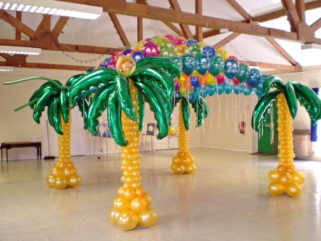 Caribbean Party Tips Theme Parties N More: Balloon Decorations By Ziggy Www.Zmagicshow.com