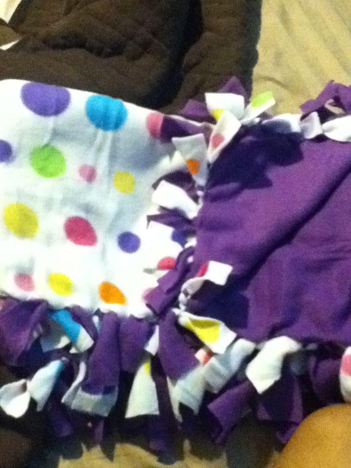 Original Pin Diy No Sew Fleece Blanket Done Weighted