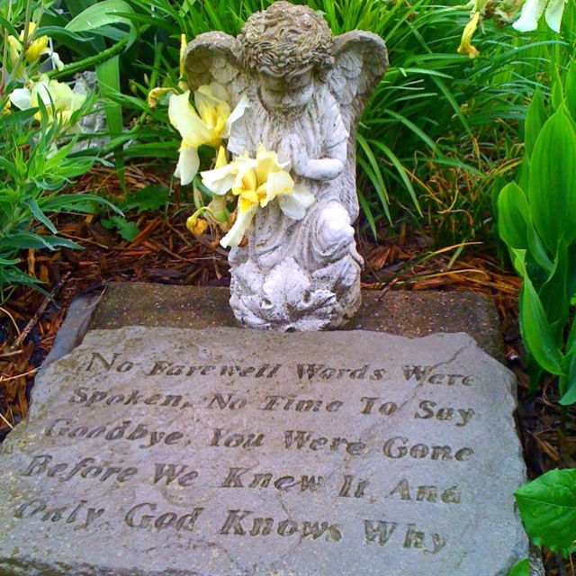 Would love for my memorial garden gardening quotes for Praying angel plant