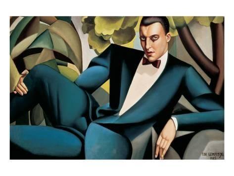 Premium Giclee Print: Portrait du Marquis d'Afflitto Wall Art by Tamara de Lempicka : 24x32in