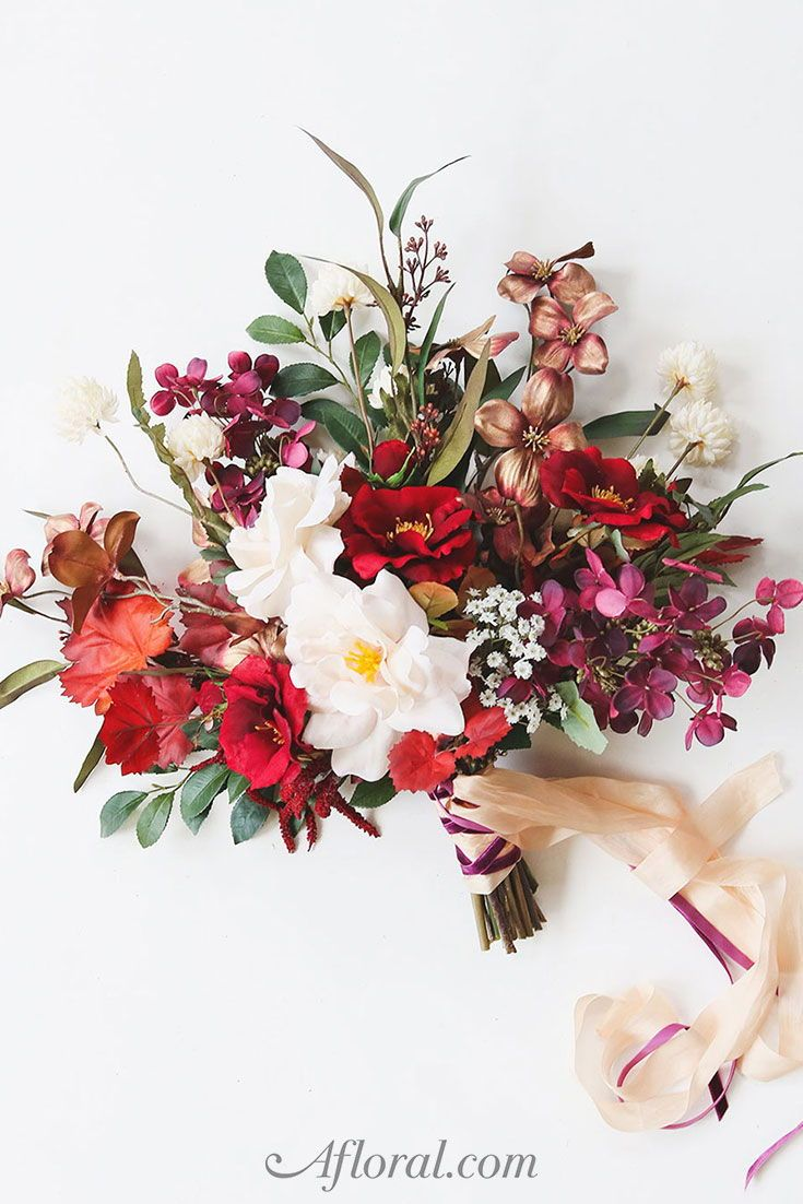 Get the look bouquet to arrangement fall wedding flowers diy fall wedding bouquet with silk flowers from afloral izmirmasajfo