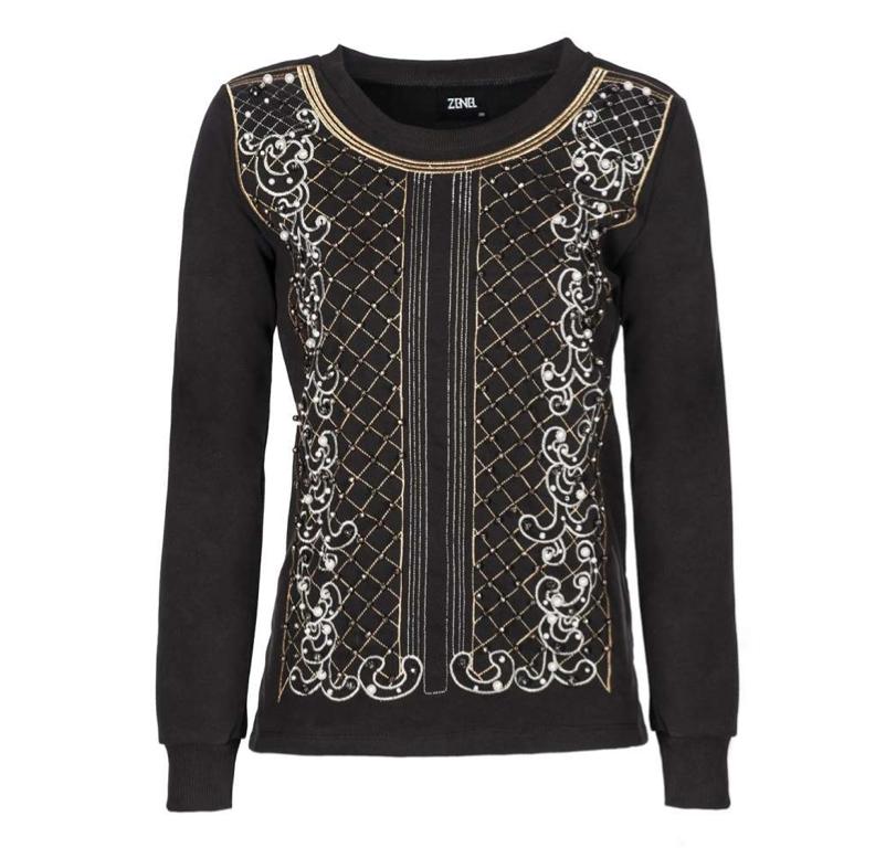 Zenel - Nakışlı Sweatshirt