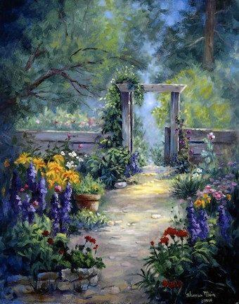 Fine art print Oil painting print Flower art by SharonMaiaWilson,