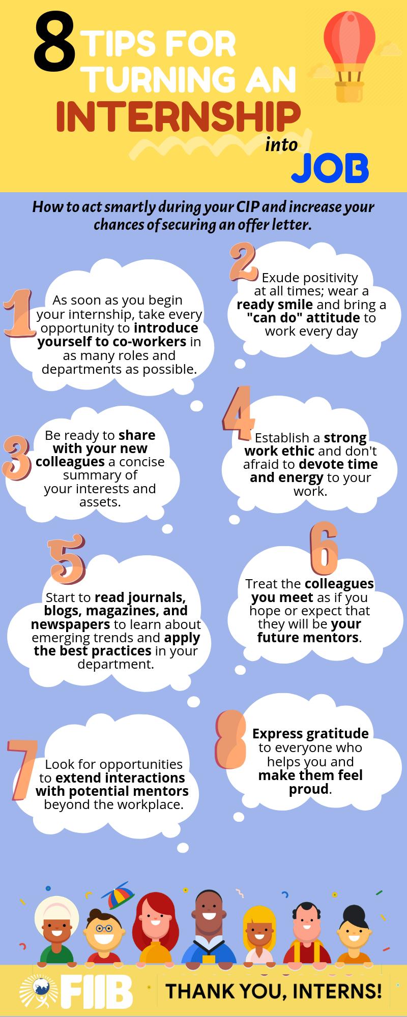 8 Tips For Turning An Internship Into Job Entry Level Jobs Internship Job