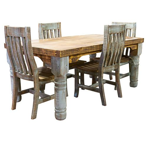 Rustic Dining Table And Chairs Scoop Back Velvet 6 Rough Cut Turquoise Room Set Bohemian Kitchen 039