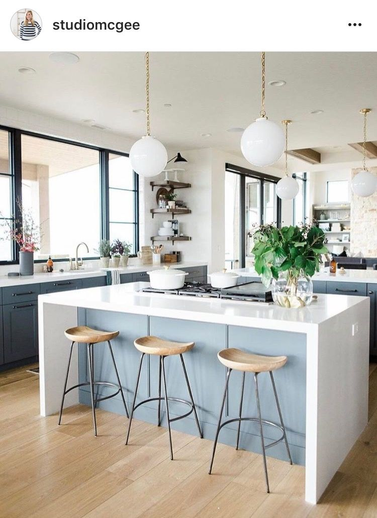 Love The T Style Kitchen With 2 Islands House Kitchen Home