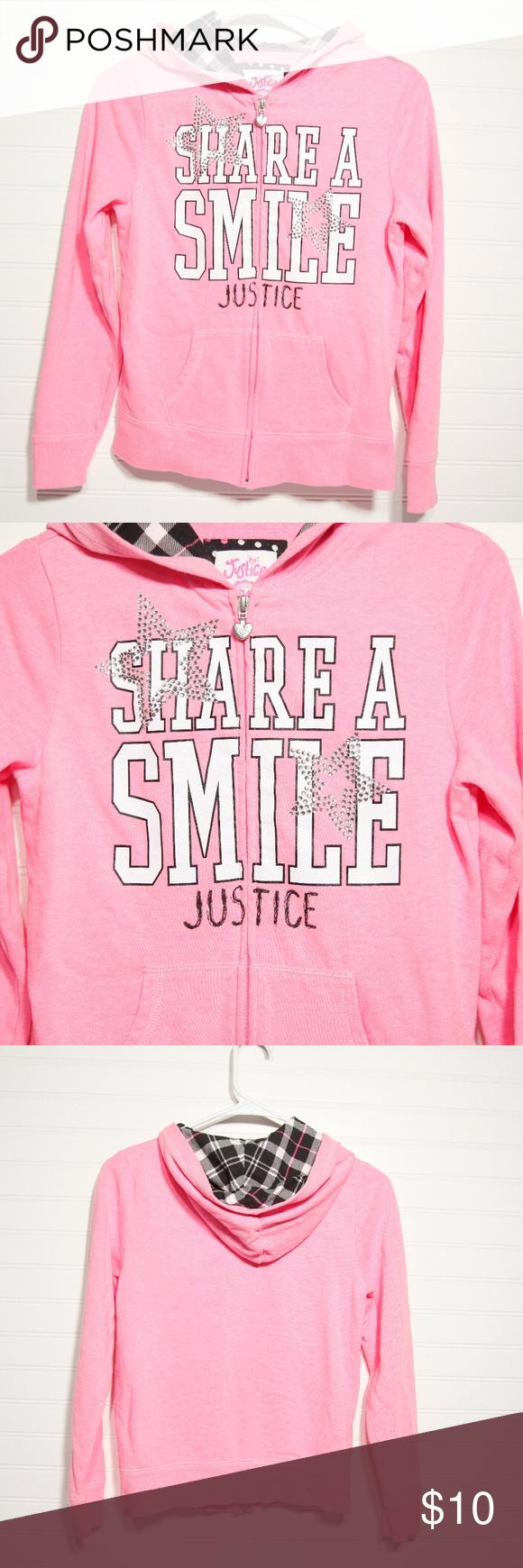 Justice Girl S Zip Up Hoodie Hoodies Clothes Design Zip Ups