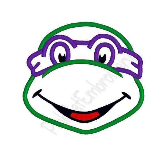 Teenage Mutant Ninja Turtle Applique Machine Embroidery Design