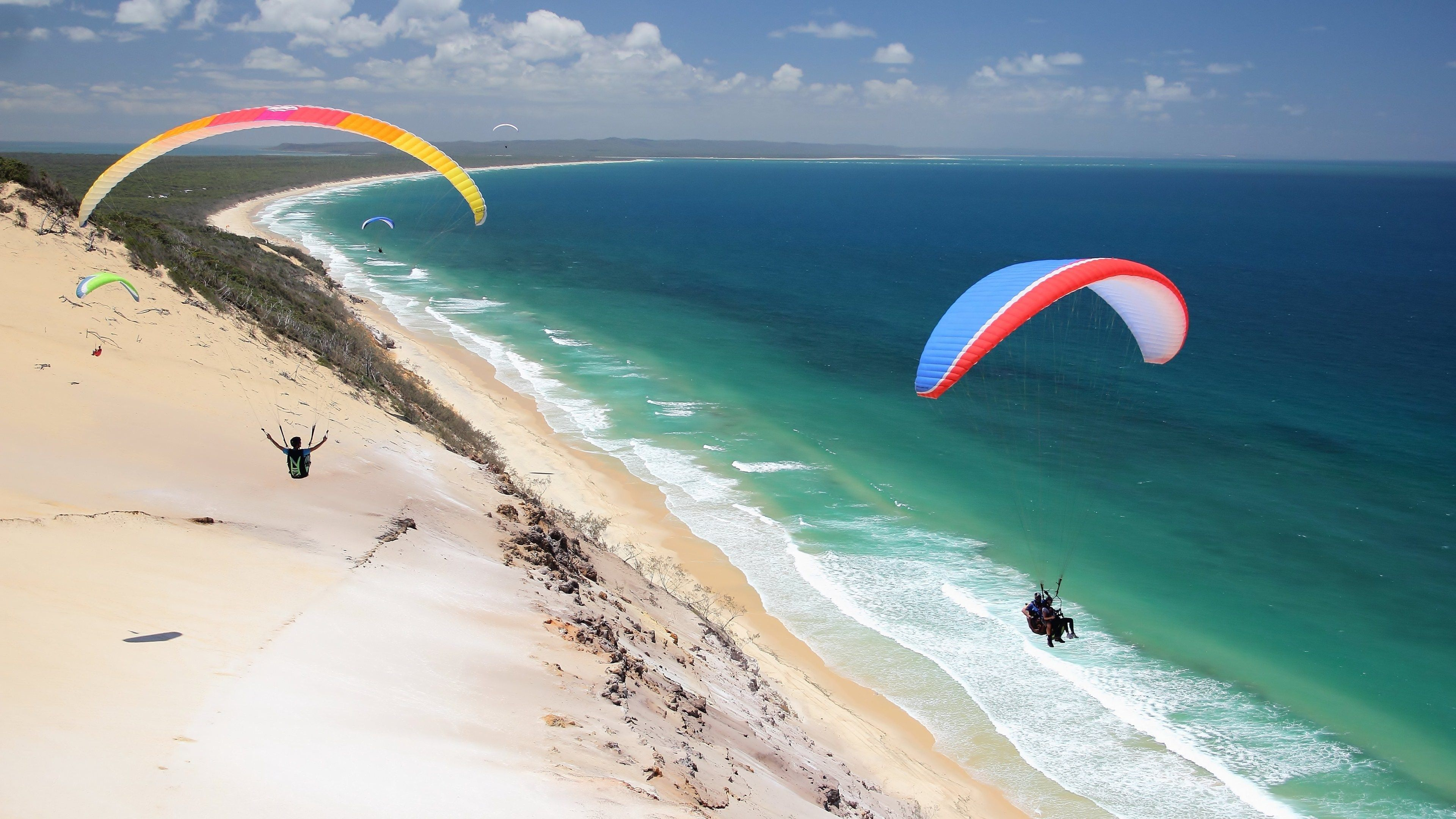 Paragliding Adventure Sports 4k Ultra Hd Wallpaper