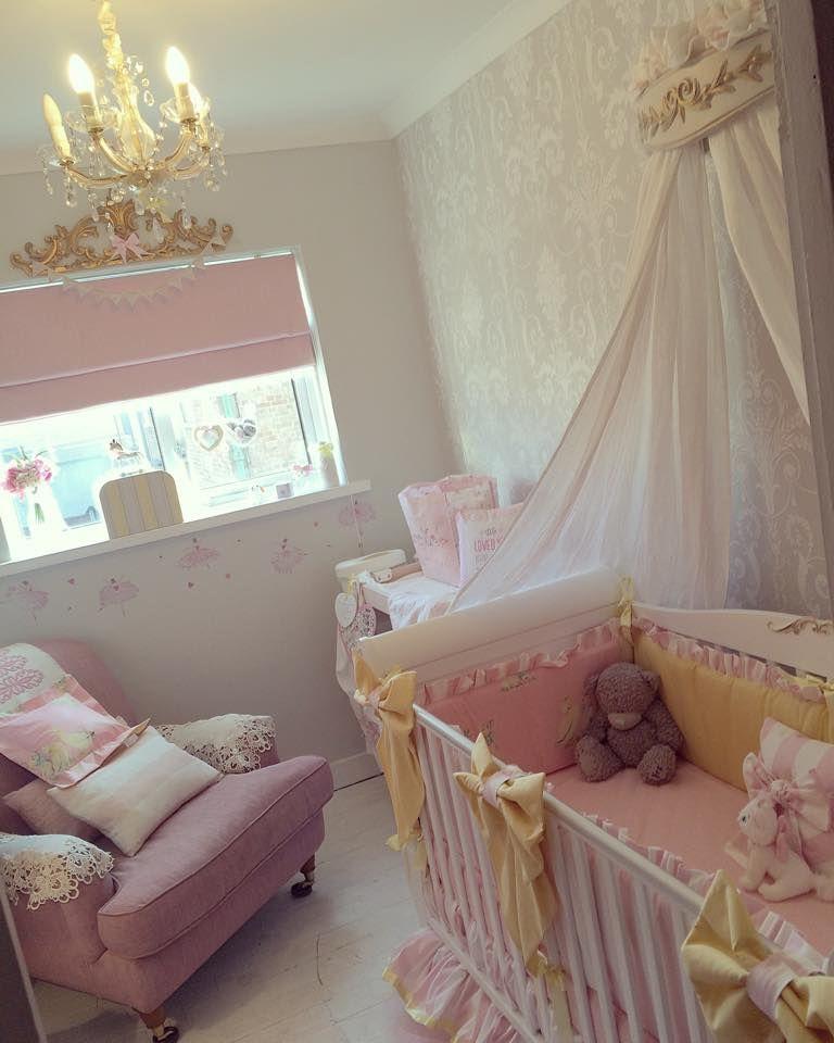 Miyu Luxury Bespoke Nursery Soft Furnishings Manchester Hand Made S Pink Lemon Candy