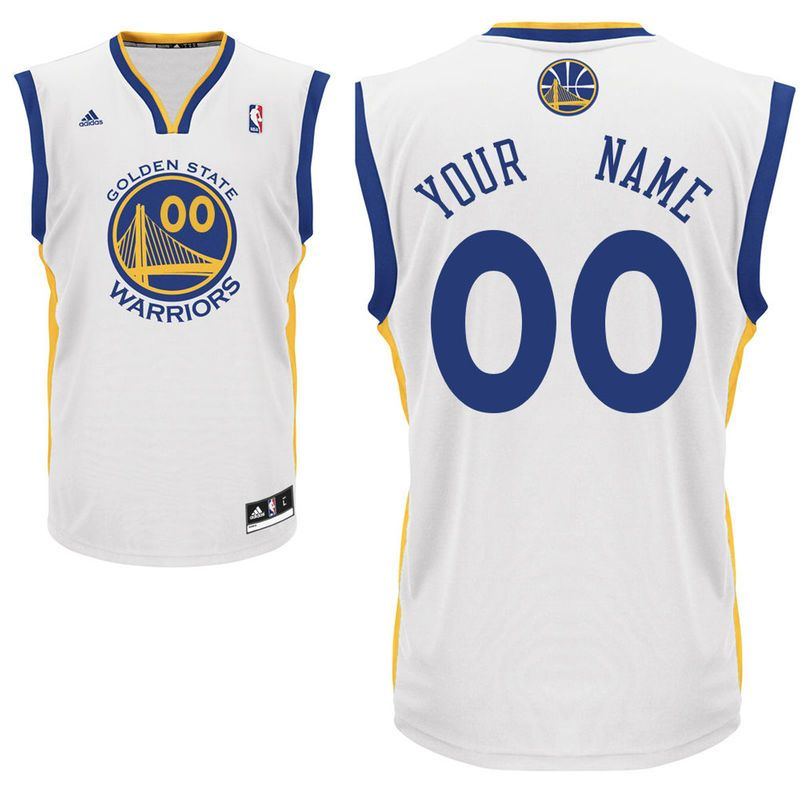 2f9225531 Golden State Warriors adidas Youth Custom Home Replica Jersey - White Blue