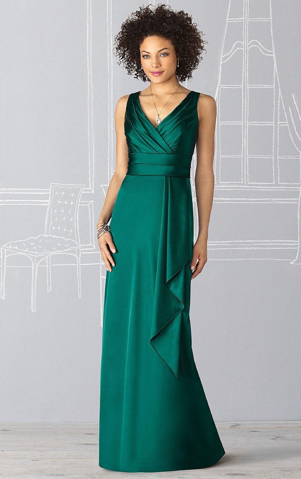 Sheath bridesmaid dresses sleeveless empire dresses unique deep v