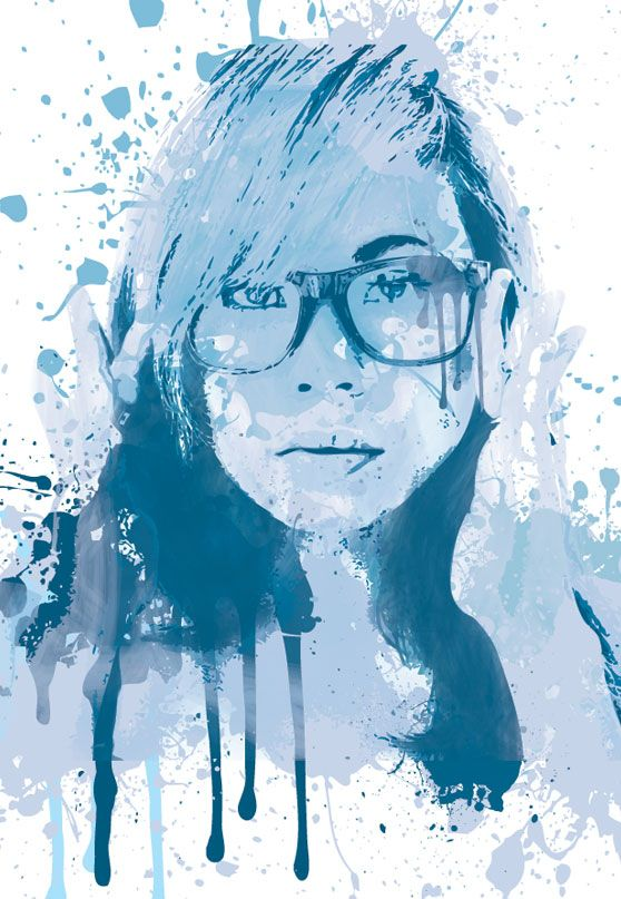 Create A Painted Portrait Effect In Illustrator Using The Bristle