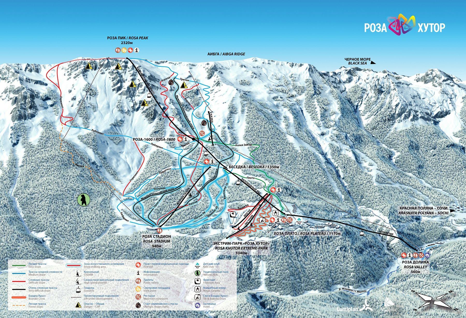 Plans for the ski slopes in Sochi in 2019 99