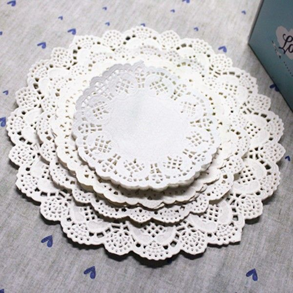 """Cheap placemats napkins, Buy Quality placemat cotton directly from China doilies crochet Suppliers: Free Shipping Creative Craft 3.5"""" Inch Round White Paper Lace Doilies Cake Placemat Party Wedding Gift Decoration 50pcs/"""
