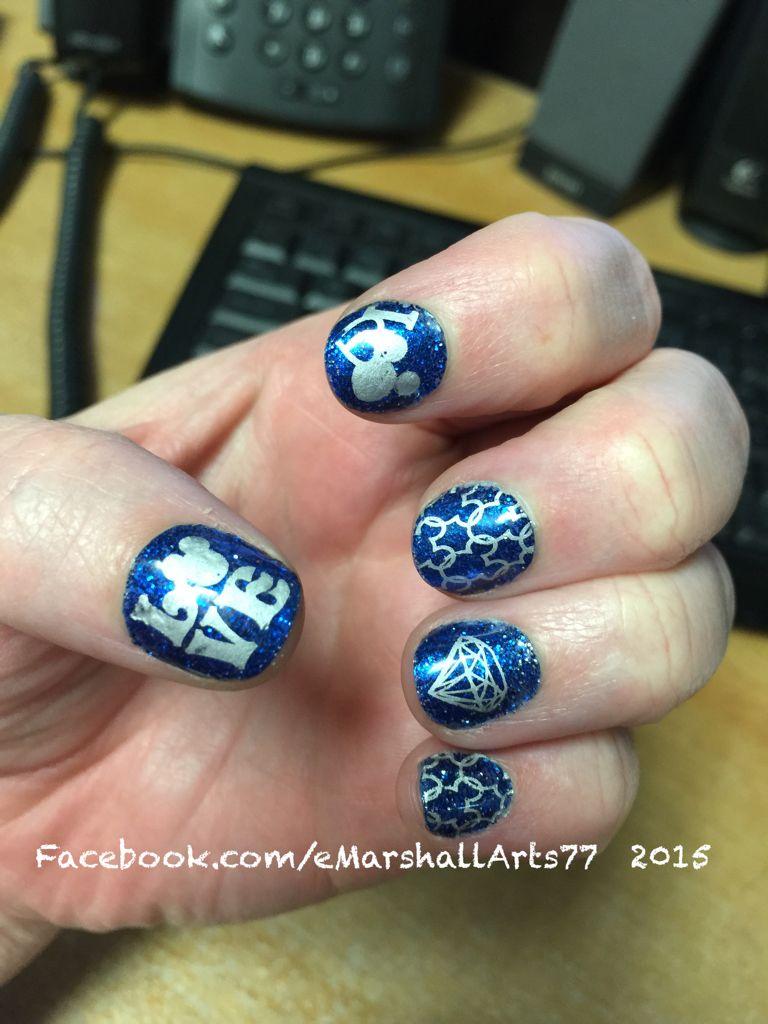 Disneyland Nails 60th Diamond Anniversary Nail Art