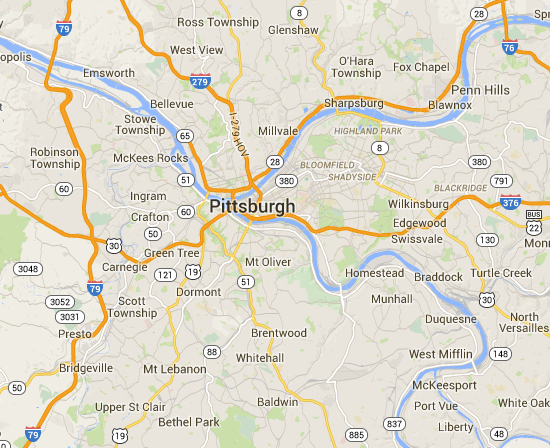 Diners, Drive-ins and Dives Pittsburgh, Pa Restaurant Listings, Maps on