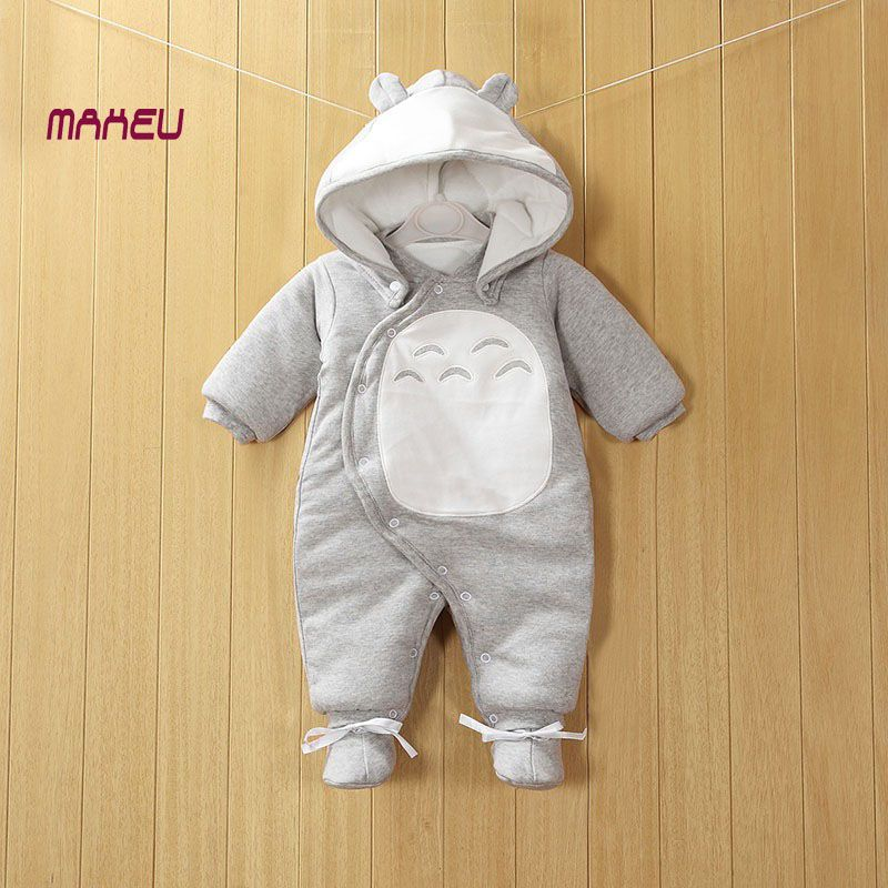 d09b03b880c7 2017 New Clothes Detachable Newborn Baby Cotton One-piece Thick ...