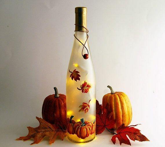 Wine Bottle Decorating Ideas Fall Bottle Decorating Ideas Halloween Bottle Decor Thanksgiving