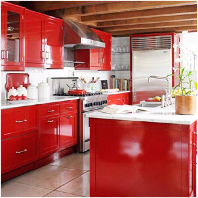 red cabinet doors gotta show my mom home decor i love pinterest rh pinterest com