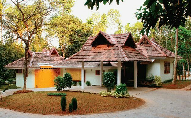 Car Porch Indian House Exterior Design Kerala Houses Village House Design
