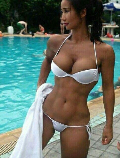 Asian bikini thong