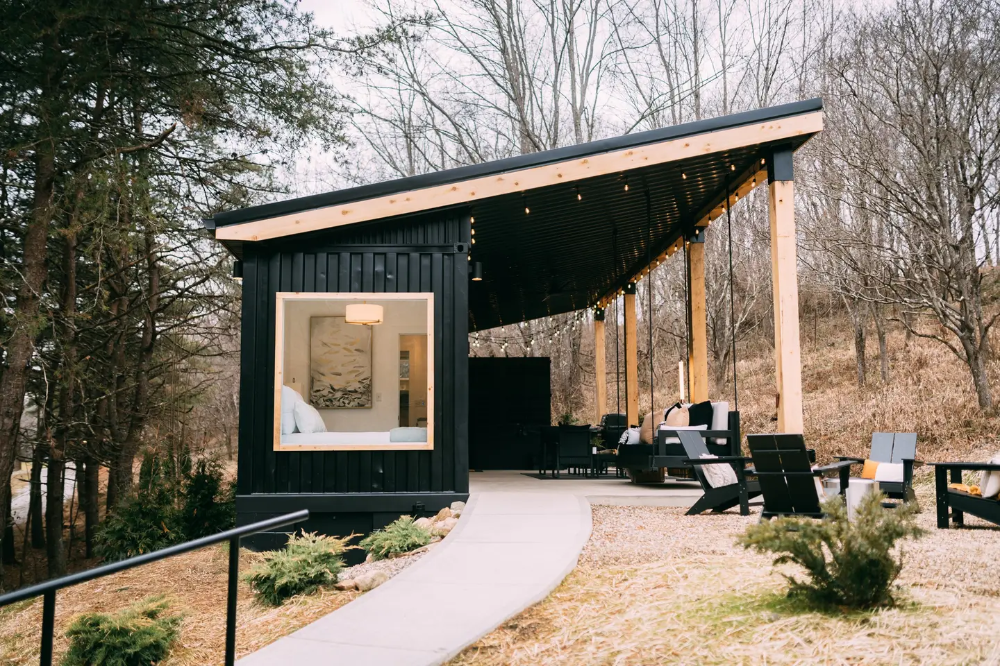 The Lily Pad Hocking Hills Shipping Container Tiny