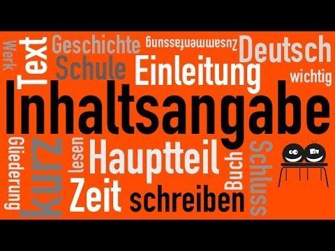 Deutsch Wie Schreibt Man Eine Inhaltsangabe Deutschunterricht