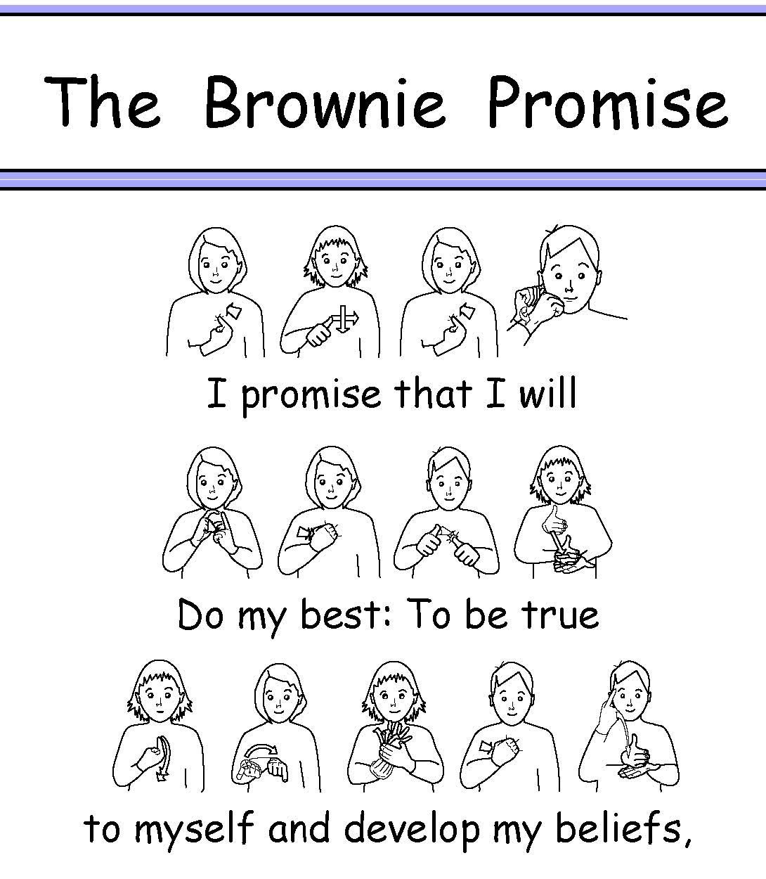 BSL Brownie Promise British Sign Language could be very