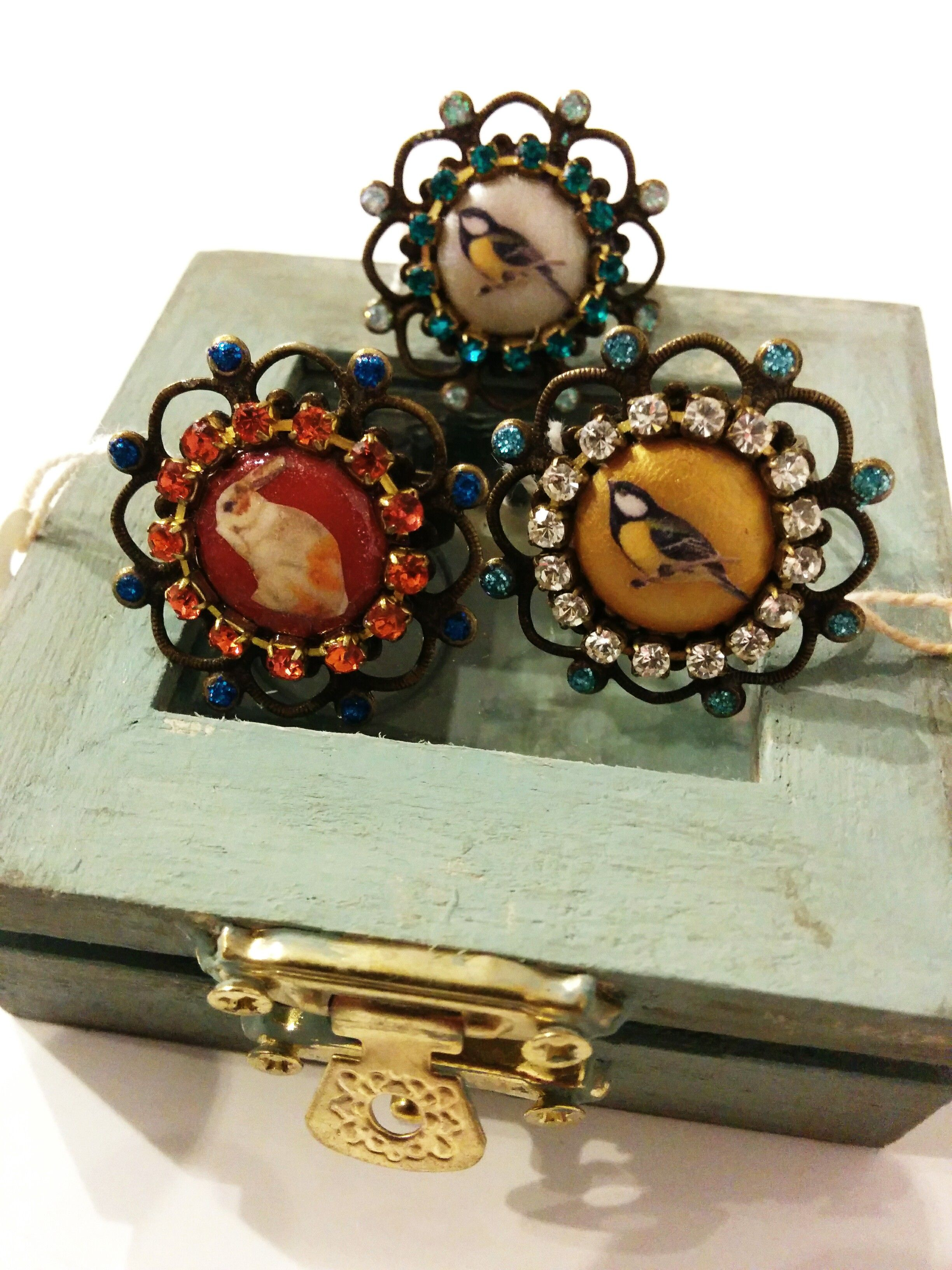 Shabby Chic Handmade Ornate Rings By Handmade By Yasmin Bochi Jewellery Collection Available At Things British