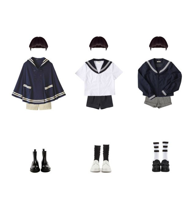 """fools"" by neptunex ❤ liked on Polyvore featuring Cacharel, Alice + Olivia, Uniqlo, Charlotte Russe, The WhitePepper, Dr. Martens and Yang Li"