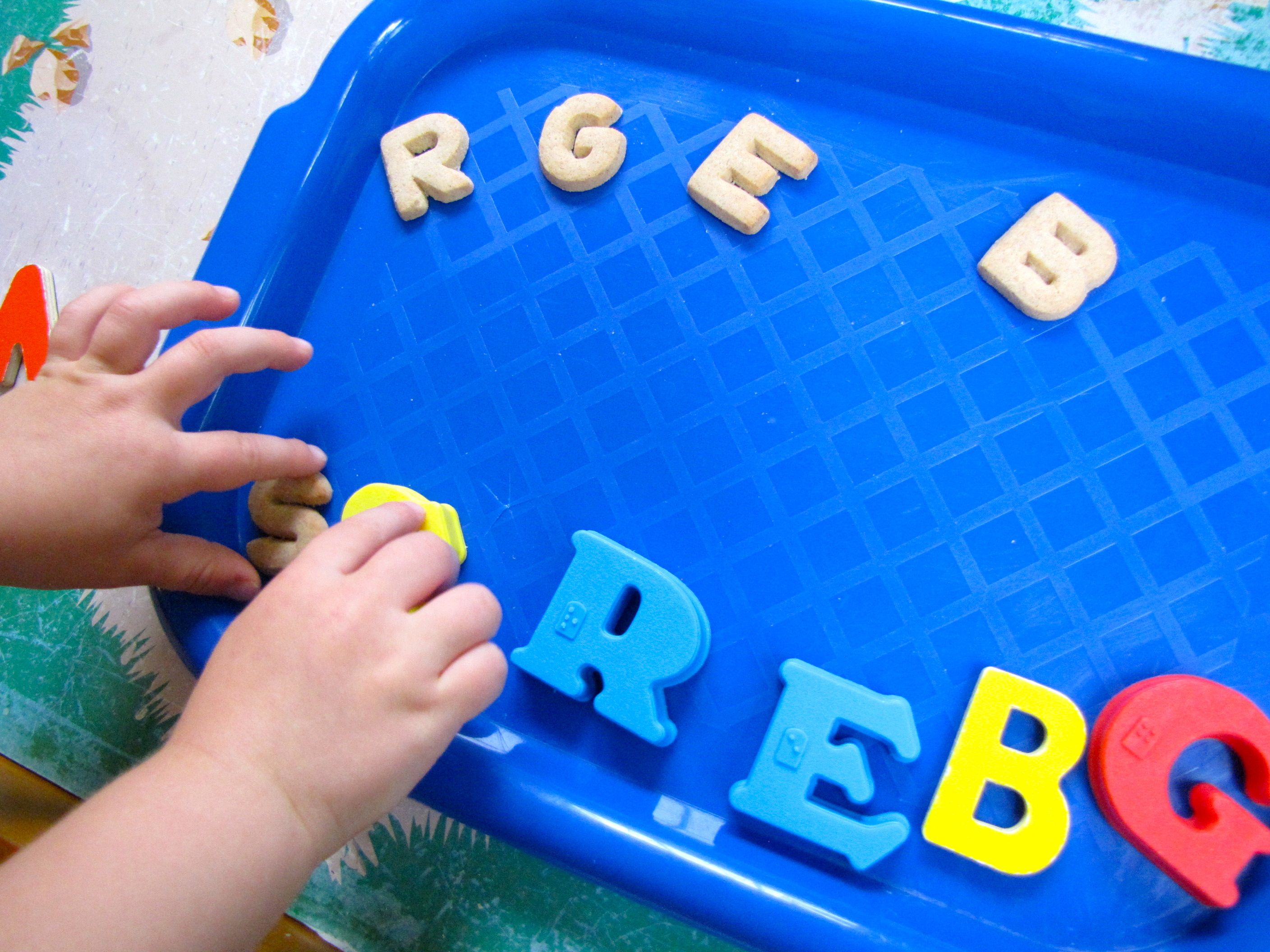 Matching letters...with cookies!