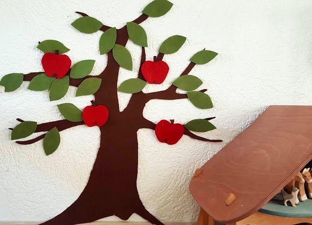Luxury DIY Tipp Wanddeko EIN APFELBAUM diy filz basteln kinder