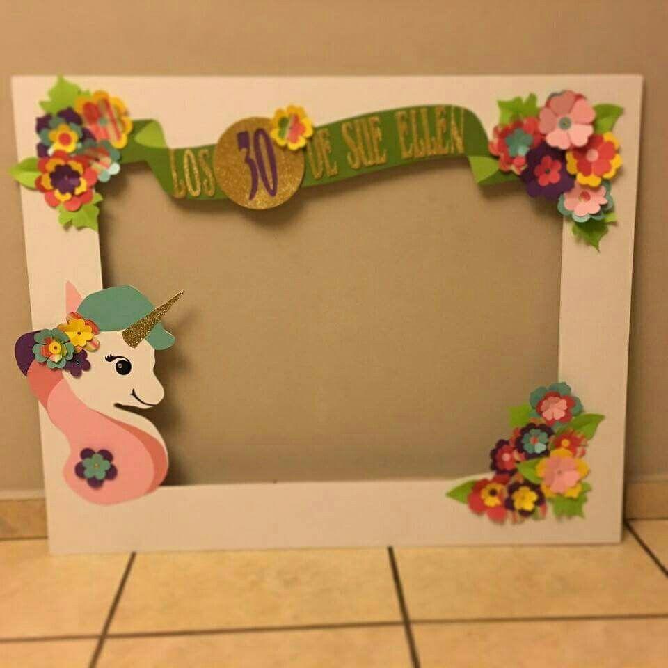 Cuadro selfi | Fiesta Unicornio | Pinterest | Unicornio, Cuadro y ...