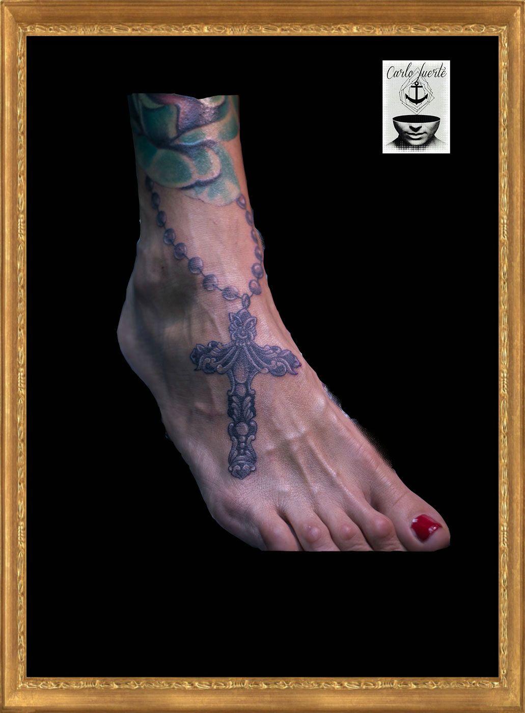 realistic tattoo #cross tattoo #tattoo idea #leg tattoo #fuerteventura tattoo #corralejo tattoo #carlofuertetattoo