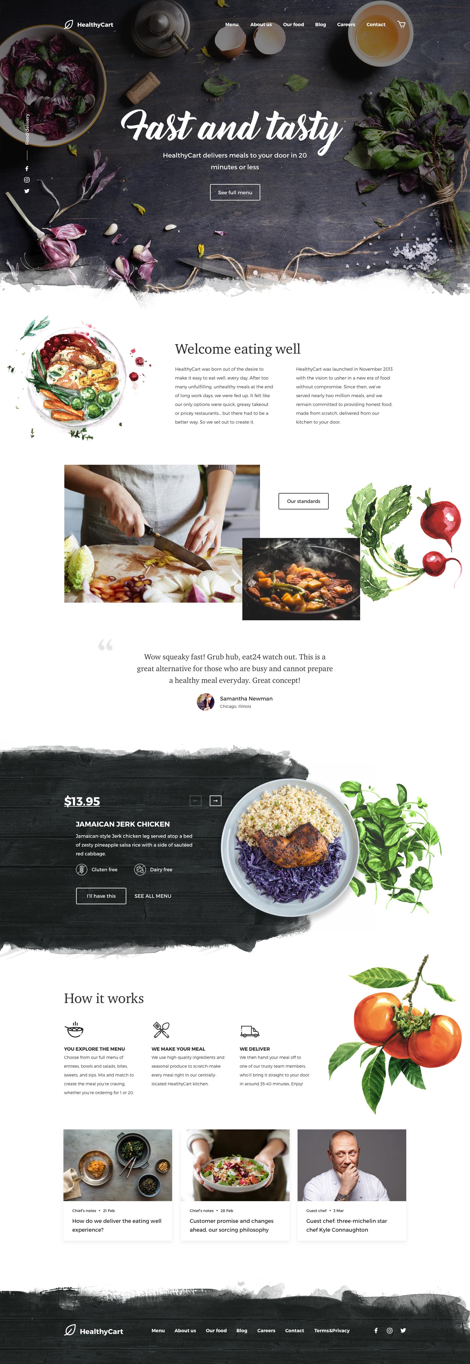 Healthycart Delivery Food Web Design Web Layout Design Website Design Wordpress