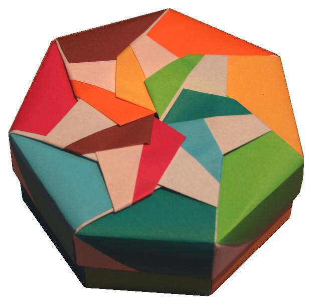 Tomoko Fuse Hexagon Box Instructions : Origami constructions heptagonal box folding