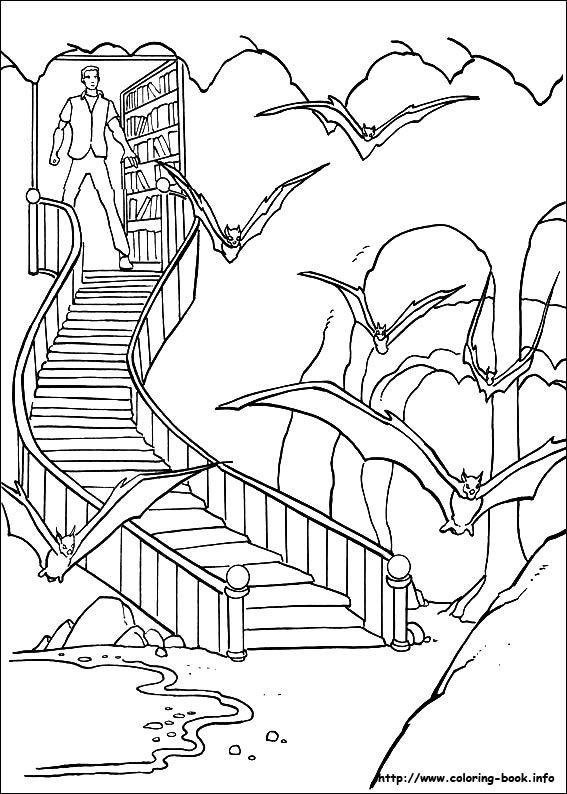 Batman Coloring Picture Batcave
