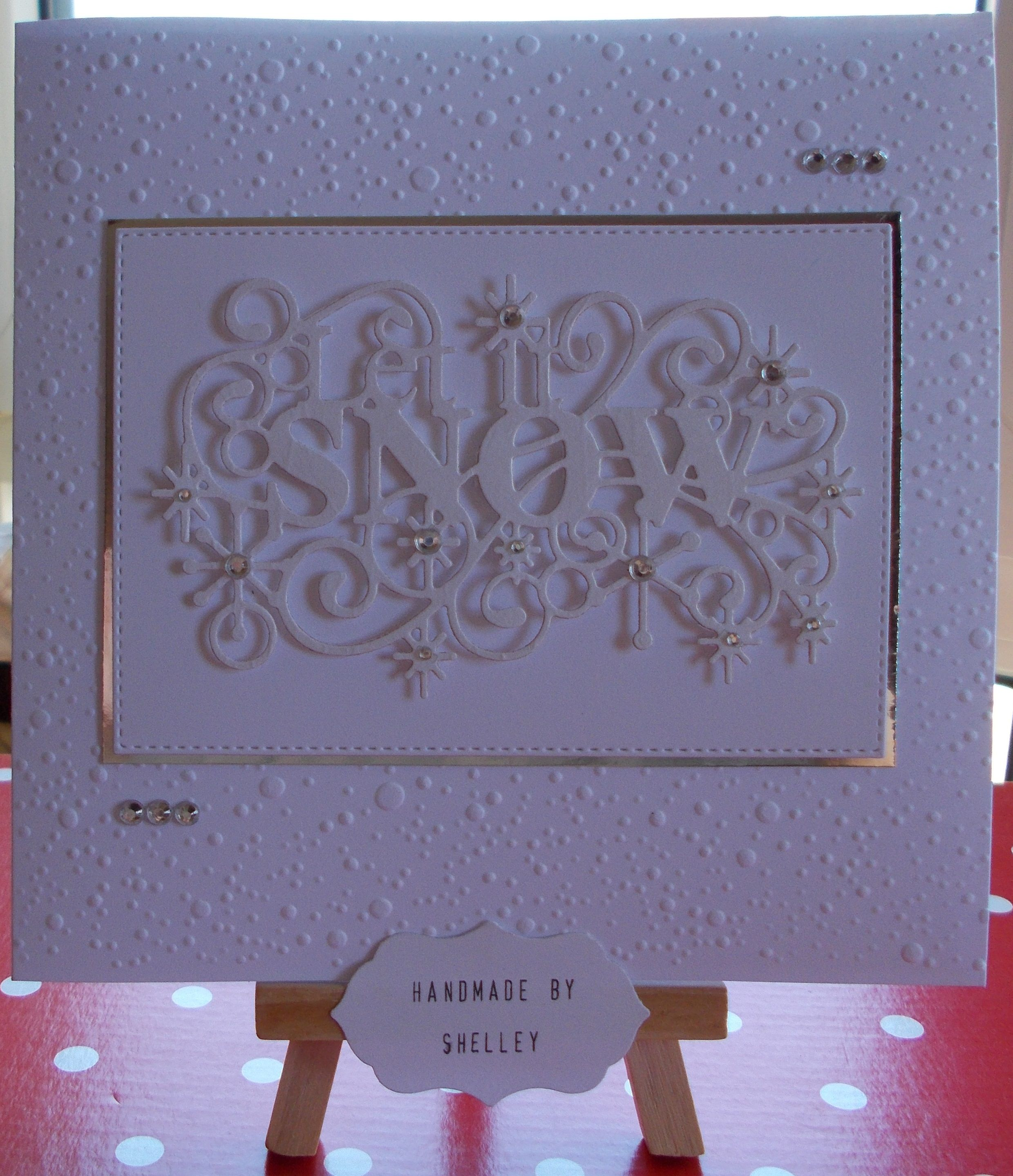 Let It Snow Crafts-Too Embossing Folder