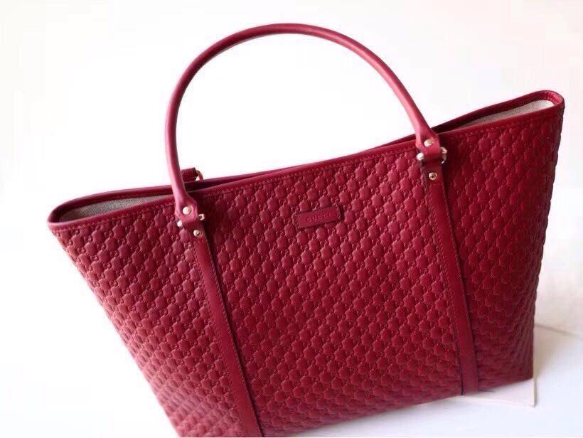 b4d59dec94f Gucci 449647 Leather GG Guccissima Joy Purse Handbag Tote