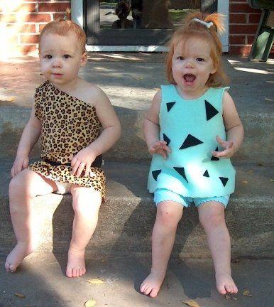 halloween bamm bamm and pebbles from the flintstones el 17 months twins twin girls twin sisters costume