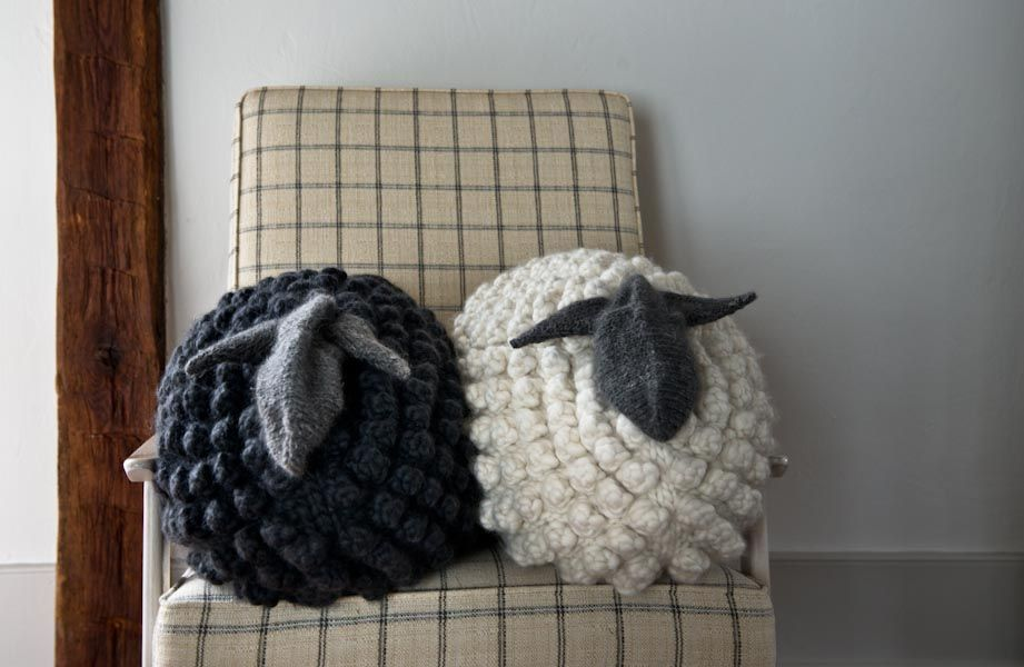 Bobble Sheep Pillow in Gentle Giant